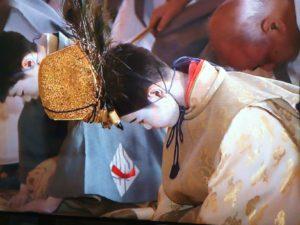 祇園祭2014 山鉾巡行 くじ取り式 お稚児さん