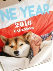 2016 卓上カレンダー。